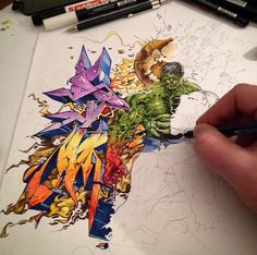 Hulk Graffiti Sketch