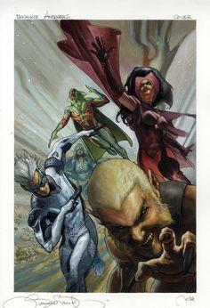 Uncanny Avengers # 2 variant cover •Simone Bianchi