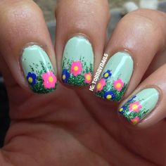 tornbynails #nail #nails #nailart  these YELL  Spring to me  Love the colors!!  Spring