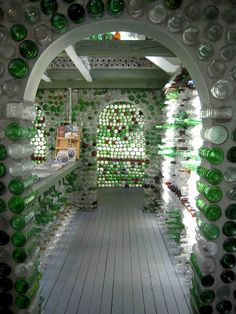 Inspiration strikes in the most unusual ways. Édouard T. Arsenault began to build these incredible bottle houses in 1980. He was 66 at the time and had received a postcard from his daughter of a glass bottle castle in British Columbia. Inspired to create his own bottle house, Édouard began collecting glass bottles from his community in Cap-Egmont, Prince Edward Island, Canada.