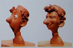 Maquette sculptures of Linguini by Greg Dykstra. So awesome, and so amazing! Living Lines Library: Ratatouille - Concept Art Art Disney, Disney Concept Art, Disney Kunst, Disney Style, Disney Pixar, Character Design Animation, Character Design References, 3d Character, Character Reference
