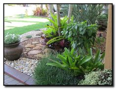 Rock Garden tropical landscape You are in the right place about tropical garden ideas australian Her Tropical Landscaping, Landscaping With Rocks, Front Yard Landscaping, Landscaping Ideas, Tropical Gardens, Organic Horticulture, Landscape Design Plans, Ponds Backyard, Back Gardens