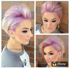 28 Cool Pastel Hair Color Ideas for 2019 - Short Bob Hair Styles Love Hair, Great Hair, Funky Hairstyles, Pretty Hairstyles, Hairstyles Haircuts, Short Hair Cuts, Short Hair Styles, Pixie Cuts, Corte Y Color