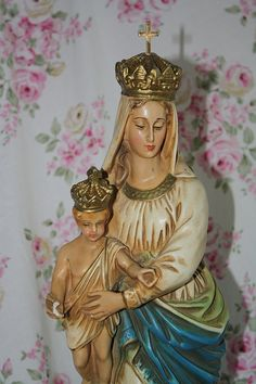Notre Dame des Victoire Statue Our Lady of by MoxieAntiques, $289.00