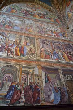 Cappella Tournabuoni, Santa Maria Novella, frescoes by Domenico Ghirlandaio, 1485-90 by Prof. Mortel, via Flickr