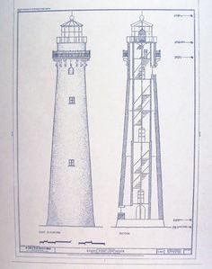 Grosse Point Lighthouse Blueprint.