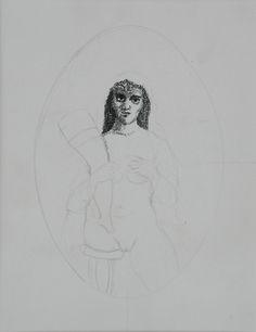 Antonio BONILLA : Boceto para el tríptico de nuestra cotidianidad ; 1983 ; tinta sobre papel ; colección MDAA (adquirido del artista)