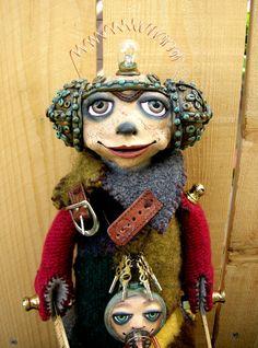 Steampunk Art Doll ooak with Steampunk Necklace by keelybenkey