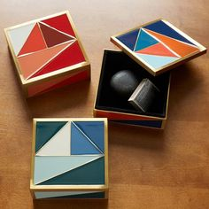 Graphic Enamel Tile Box | West Elm