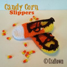 Create a festive pair of candy corn slippers with our free crochet pattern, from Craftown!