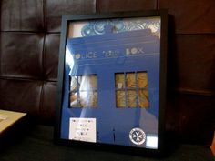 Tardis shadow box, layered papercut, Doctor Who, limited edition