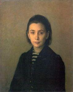 Nikolai Ge - Porträt von Olga Kostycheva