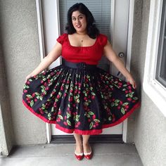 Today's #ootd: my favorite red peasant top (of course!) and Cherry Jenny skirt from @pinupgirlclothing! Underneath I'm wearing my favorite red petticoat from @malcomodes and @baitfootwear Ida's. ❤️ #jennyjaynejune #pinupgirlclothing #ootdsocialclub #jennaayy #baitfootwear #thatpinuplife #pinup #pinupgirl #pinupstyle #vintagemakeup #vintagestyle #vintagehair #vintagehairstyles #cherryjenny #peasanttop #1950s #pinupcouture