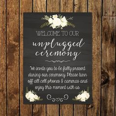 18 x 24 DIY Printable Unplugged Ceremony Faux by DesignedDelivered