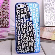 Marco Jacobs letras metálicas Carcasa plástica para iPhone 5