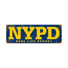 From the New York City licensed collection, this NYPD Heroes vintage metal sign measures 24 inches by 8 inches and weighs in at 2 lb(s). We hand make all of our vintage metal signs in the USA using heavy gauge american steel and a process known as sublimation, where the image is baked into a powd...