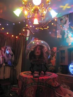 - The Lost Year Circus Decorations, Diy Halloween Decorations, Halloween Themes, Halloween Ideas, Freak Show Circus, Disney Themed Rooms, Madame Leota, Fortune Teller, Haunted Mansion
