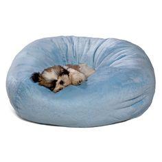 Puff pra Cachorro Bola Malha Azul Bag Dog - MeuAmigoPet.com.br #petshop #cachorro #cão #meuamigopet