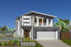 GJ Home Designs: Buderim - Facade Option 1. Visit www.localbuilders.com.au/builders_nsw.htm to find your ideal home design in New South Wales