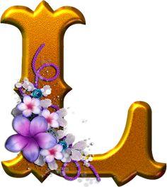 Alfabeto dorado con flores PNG   Fondos de pantalla y mucho más