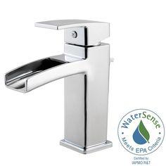 Pfister Kenzo Single Hole Single-Handle Bathroom Faucet in Polished Chrome