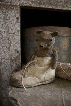 Sweet Lil' Teddy...in a baby shoe.
