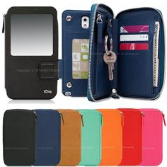 Edge Plus Wallet (Zipper Type) Case for Samsung Galaxy Note4 N910 Note3 Note2 in Cases, Covers & Skins | eBay