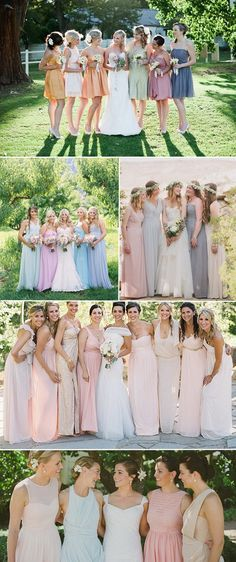 pastel bridesmaid dresses collection for spring wedding 2015 - Top 7 Wedding Ideas & Trends for Spring/Summer 2015