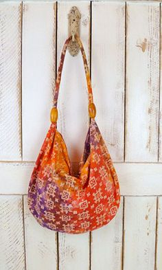 66e82ad0003 Contemporary batik prints and colours adorn a modern-day women s bag Hobo  Bag Patterns