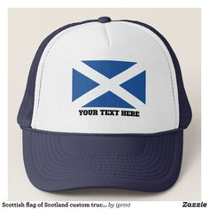 Scottish flag of Scotland custom trucker hat - Fashionable Urban And Outdoor Hunter Farmer Trucker Hats By Creative Talented Graphic Designers - #hats #truckerhats #fashion #design #designer #fashiondesigner #style #trends #bargain #sale #shopping - Trucker Hats are a great way to cheer your team or promote your brand or make a unique fashion statement or simply keep the sun out of your eyes - Customizable trucker hats are the perfect way to look cool and memorable - Trucker Hats can be…