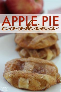 Homemade Easy Apple Pie Cookies Recipe For Fall And Winter Thanksgiving Christmas Dessert Holiday Parties To Share With Friends Family