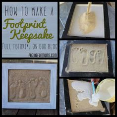 Foot print keepsake