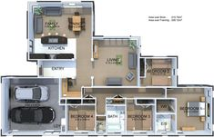 The Carlisle plan promotes space and functionality. Features: four bedrooms with ensuite and walk-in wardrobe to master, study, separate formal living, galley style kitchen and internal garage with laundry. Galley Style Kitchen, 4 Bedroom House Plans, Walk In Wardrobe, Bedroom With Ensuite, Carlisle, Kitchen Living, My House, Brick, New Homes