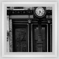 Clock Stand Framed Print, White, Classic, None, None, Single piece, 16 x 16 inches, White