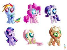 my little pony friendship is magic all pegasus ponys | My Little Pony Friendship is Magic excessively chibi ponies