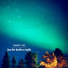 My #1 travel destination on my list ... Finland and the Northern lights