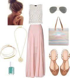 maxi skirt wedding guest outfit - Google Search