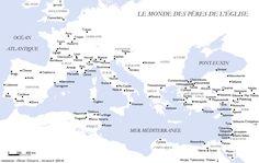 Carte du monde des Pères de l'Église