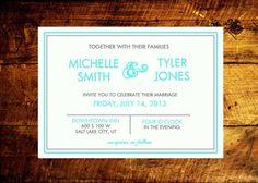 printable wedding invitation wedding invites wedding by STMDesign