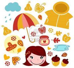 Garden and autumn collection. Vector illustration