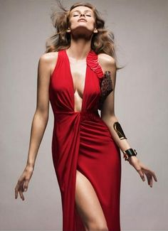 Edita Vilkeviciute by Greg Kadel for Vogue Germany - Totally stunning dress. I would so wear this if I hadn't lost complete control of my breasts ten years ago :)