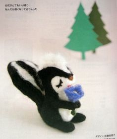 Outofprint Handmade Felt Wool Animals  Japanese by MeMeCraftwork, $14.00