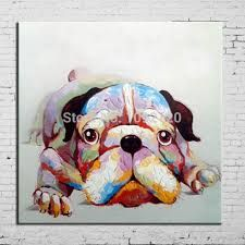 Pop Art Hot Sell Painting Dog Oil Painting On Canvas Handpainted Lovely Animal Paintings For Living Room Home Decorations(China (Mainland)) Simple Oil Painting, Modern Oil Painting, Oil Painting Abstract, Abstract Canvas, Canvas Art, Canvas Frame, Canvas Prints, Acrylic Canvas, Canvas Paintings
