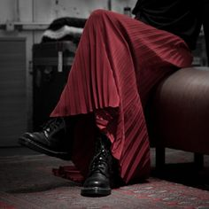 bordeaux long skirt