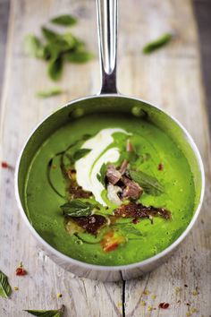 Pea & Ham soup.  Looks beautiful!