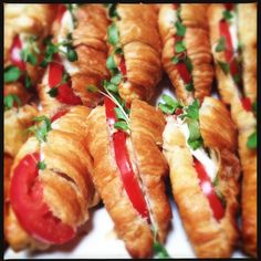Capresse salad stiffed croissants. Yum! Baby shower brunch 6.22.13