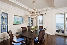 Dining area of luxury home in Vero Beach, Florida