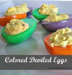 Colored Deviled Eggs are perfect for Easter or any special occasion.