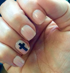 He is risen! Easter nail art