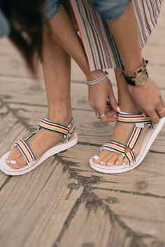 1958a3ab95df9a Ember - Worn Well  Kiara Schwartz in the Hudson s Bay X Teva Collaboration  Sandals